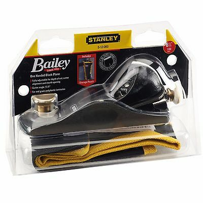 Stanley No.60 1/2 Wood Block Plane & Pouch 6-1/4in, 35mm Blade 13 Degrees 512060 • 39.95£