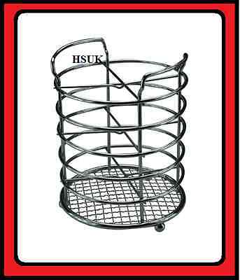 AU50.36 • Buy Chrome Plated Kitched Tool Cutlery Utensil Holder Stand Organiser Rack Caddy 766