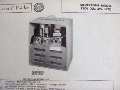 $ CDN9.07 • Buy Silvertone 1301 Musical Instrument Amplifier Photofact