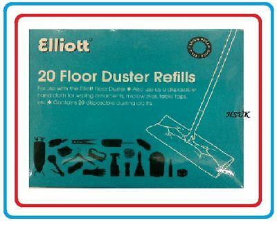 20 Laminate Floor Duster Refills Mop Cloth Replacement Static Micro Fiber Wipes • 4.95£