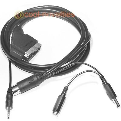 £14.59 • Buy Amstrad Cpc 464 / 664 / 6128 Rgb Stereo Scart Lead / Cable - 2 Metres