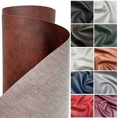 £9.99 • Buy HEAVY FEEL FAUX LEATHER LEATHERETTE VINYL PVC UPHOLSTERY MATERIAL FABRIC 1 Metre