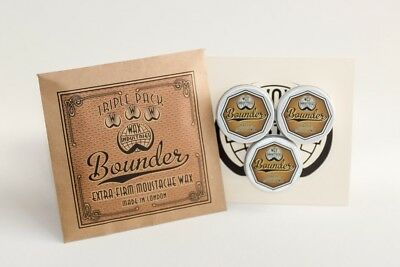 £17.50 • Buy Bounder Extra-firm Moustache / Mustache Wax Pack Of 3 X 10g Tins