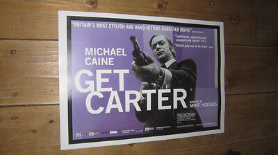 £5.99 • Buy Michael Caine Get Carter Repro Film Blue POSTER