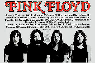 $12 • Buy Pink Floyd  German Tour Concert Poster From 1977