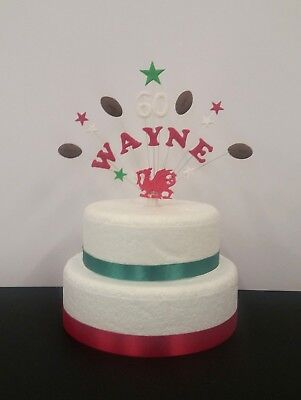 £11.50 • Buy Rugby Personalised Birthday Cake Topper/ Decoration ( Any Team, Name, Age)