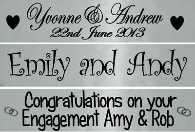 Personalised Silver Wedding Anniversary Engagement Banner Party Decorations • 3.95£