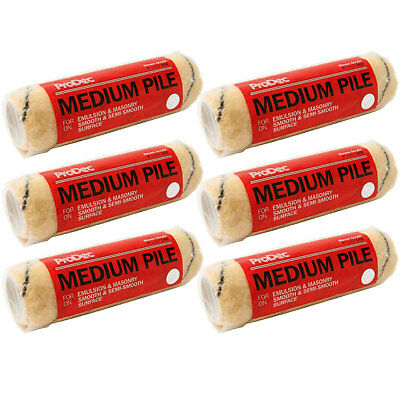 6 X 9  ProDec Tiger Stripe Paint Rollers Sleeves Woven Roller Refills 6 Pack • 13.99£