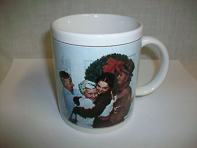 $ CDN19.71 • Buy Porcelain Coffee Mug Cup W/ NORMAN ROCKWELL Family Trust HOME FOR CHRISTMAS