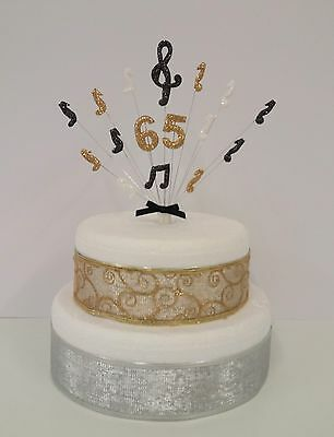 £10.50 • Buy  Musical Note, Music Birthday Personalised Age Cake Topper, Cake Decoration