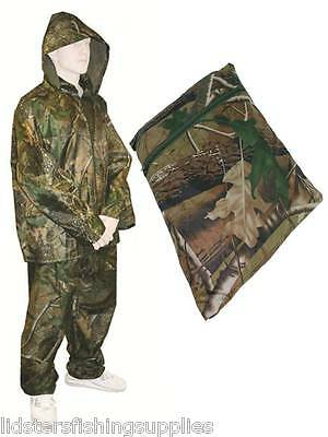 Camo Fishing / Hunting Waterproof Suit OverSuit 2pc Set Trousers + Jacket  • 20.95£