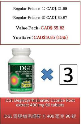90 T DGL Deglycyrrhizinated Licorice Root Extract 400 Mg - Natural Factors • 32.74£