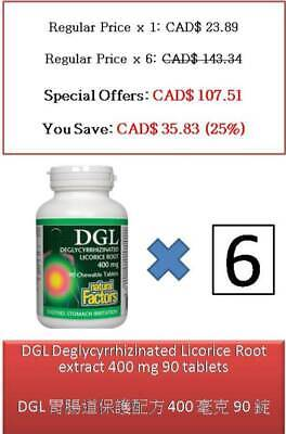 90 T DGL Deglycyrrhizinated Licorice Root Extract 400 Mg - Natural Factors • 59.32£