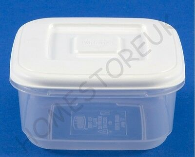 £5.95 • Buy Whitefurze Square Plastic Food Tub Storer Storage Container Cake Lunch Box