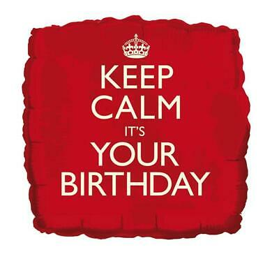 Keep Calm It's Your Birthday 18 Inch Foil Balloon • 2.79£