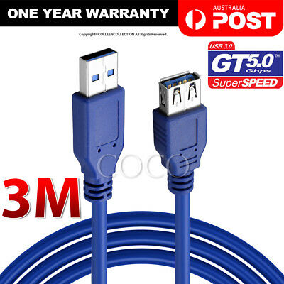 AU9.95 • Buy 3M USB 3.0 SuperSpeed Extension Cable Type A Male To Female Insulation Protected