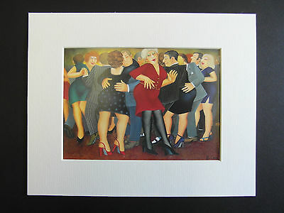 £5.50 • Buy Beryl Cook  Doing The Black Bottom  Mounted Card 10 X 8 Funny