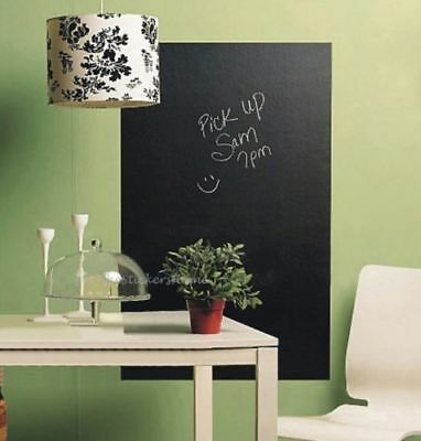 £6.59 • Buy 45x200cm Black Board Chalkboard Wall Stickers Removable Vinyl Decor Mural Decals