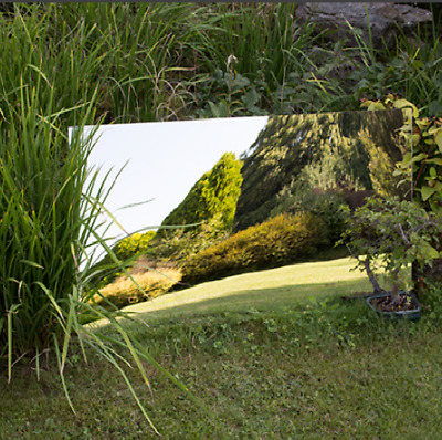 Garden Mirror Acrylic Sheet 3mm Thick Plastic Mirrored Outdoor Illusion Large • 14.99£
