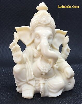 Lord Ganesha Ganesh Ganpati Marble Beautiful Statue Hindu God Pooja Prayer Rare  • 14.41£