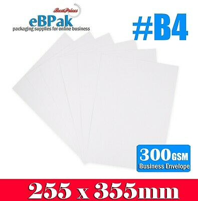 AU22 • Buy 50x Card Mailer B4 255x355mm 300gsm Business Envelope Tough Bag Replacement