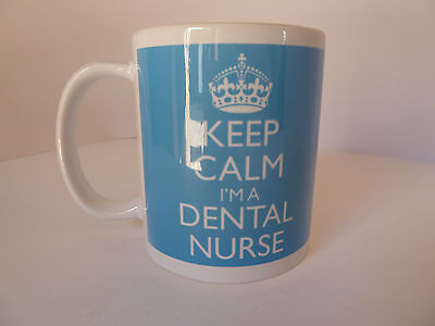 Keep Calm I'm A Dental Nurse Gift Present Mug Cup Carry On Cool Britannia Retro • 8.49£