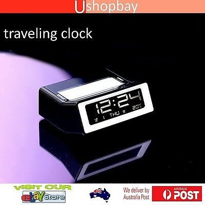 AU15.50 • Buy Travelling Alarm LED Clock With Thermometer For Kids Bedroom And Home Office