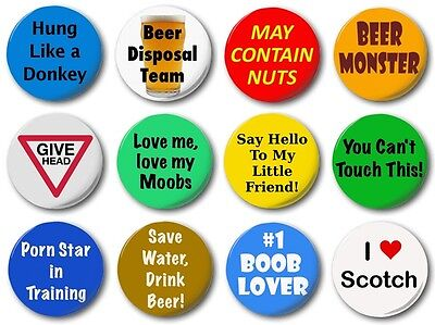 STAG DO PACK OF 12 - 1 Inch / 25mm Button Badge - Bucks Night Beer Boobs Wedding • 5.49£