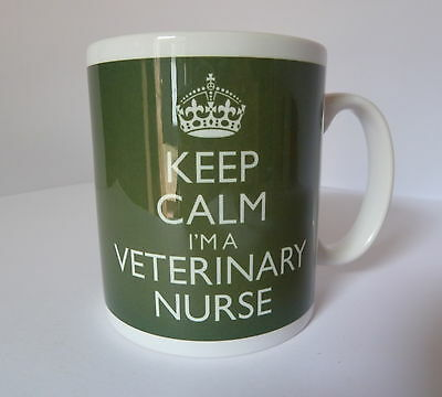 £8.99 • Buy Keep Calm I'm A Veterinary Nurse Mug In Carry On Style Green Gift Present Cup