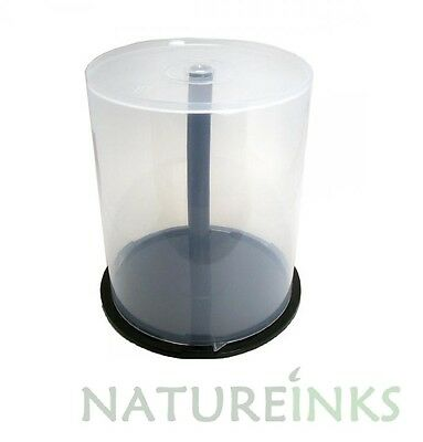 1 X 100 Storage Capacity CD DVD Empty Spindle Tub Cake Box Plastic Case Cakebox • 4.99£