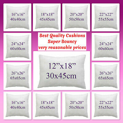 £7.49 • Buy Luxury Duck Feather,Hollowfiber Cushion Pads Inserts Fillers Inners Deep Filled.