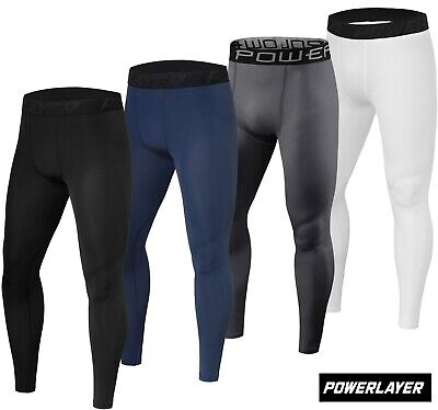PowerLayer Mens Boys Compression Base Layer Leggings Bottoms Thermal Under Gear • 17.99£