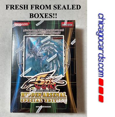 YuGiOh Hidden Arsenal Special Edition Sealed Box 3 Booster Packs 1 Variant Card • 8.85£