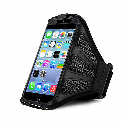 IPhone 5 Strong ArmBand Black Cover For SPORTS GYM BIKE CYCLE JOGGING RUNNING • 2.98£