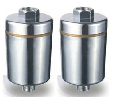 Two Pure Bath 6 Stage Shower Water Filter Systems - Chrome Finish • 29.02£