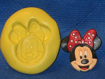 Minnie Mouse Face Push Mold  Food Safe Silicone  #514 Cake Chocolate Resin • 2.43£