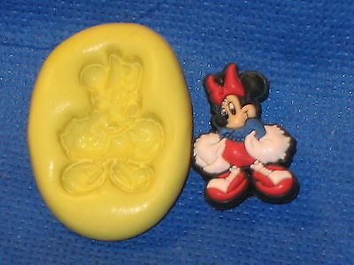 Minnie Mouse Cheerleader Push Mold  Food Safe Silicone  #563 Chocolate Resin • 2.43£