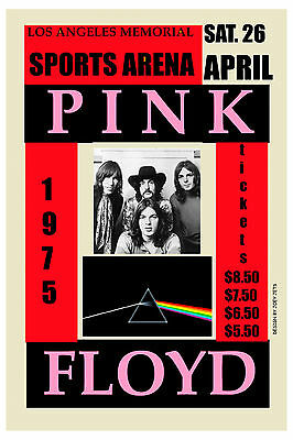 $12 • Buy  Pink Floyd At  The Los Angeles Sports Arena Concert Poster 1975