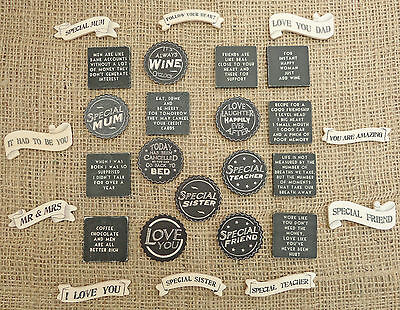 East Of India Shabby Chic Wooden Fridge Magnets Friends Birthday Xmas Gift     • 2.25£