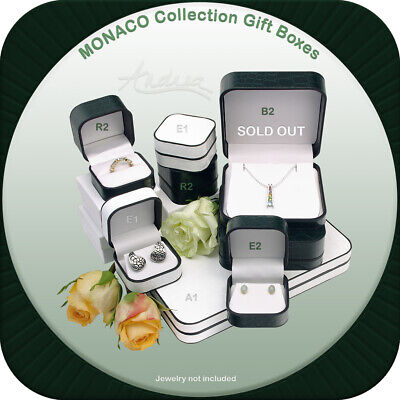 $13.90 • Buy Deluxe Croco Leatherette Monaco Gift Box For Necklace Pendant Earrings Fine Set
