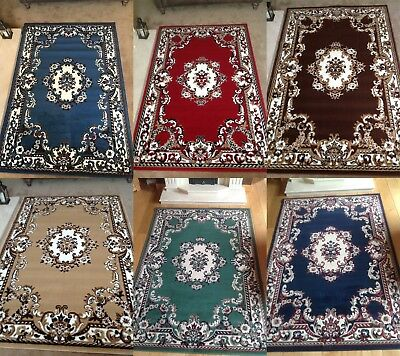 Traditional Rug Runner Classic Chinese Design Floral Soft Low Pile Large Mat • 29.99£