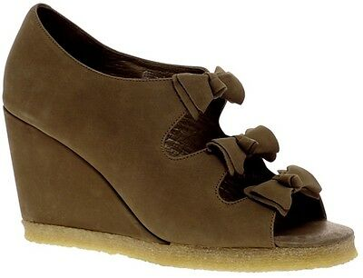 £49.99 • Buy F Troupe London Asos Beige Suede Leather Bow Wedge Peep Toe Sandals 7 40 £115!