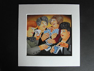 £5.50 • Buy Beryl Cook A Full House  Mounted Card 8 X 8 Funny