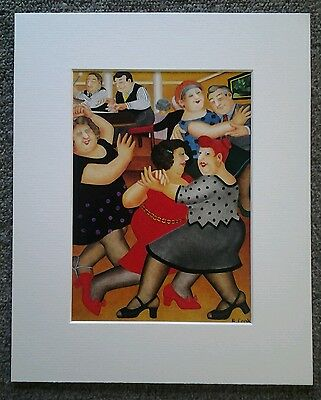 Beryl Cook  Party Time  Mounted Card 10 X 8 Funny • 5.50£