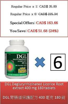180 T DGL Deglycyrrhizinated Licorice Root Extract 400 Mg - Natural Factors • 95.98£