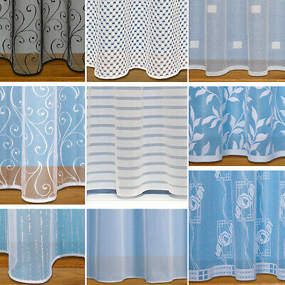 View Details Straight Base Net Curtains With Slot Top ~ Sold By The Metre ~ White Net Voile • 1.16£