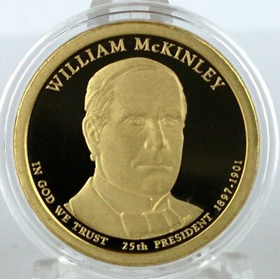 $7.99 • Buy 2013 S William McKinley Proof Dollar In Archival Crystal Clear Coin Capsule