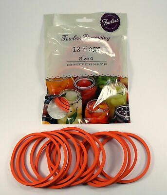 AU7.35 • Buy Fowlers Vacola Preserving Rings Size 4, One Pack Of 12 Rings NEW