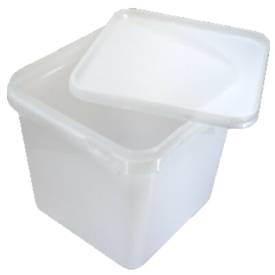 4 LTR FOOD GRADE TUBS SANDWICH ICE CREAM STORAGE Plastic Containers X 50 • 39.99£
