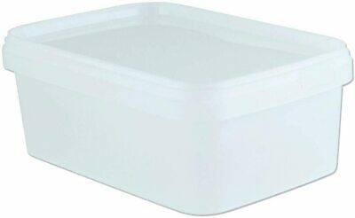 1.25 LITRE,LTR FOOD GRADE TUBS,SALAD,SANDWICH ICE CREAM Plastic Containers X 10 • 9.99£